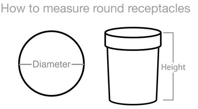 How To Measure Round Receptacles